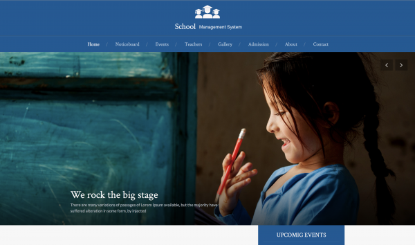 school-managment-home-page