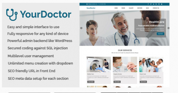 Medical and Doctor Website CMS