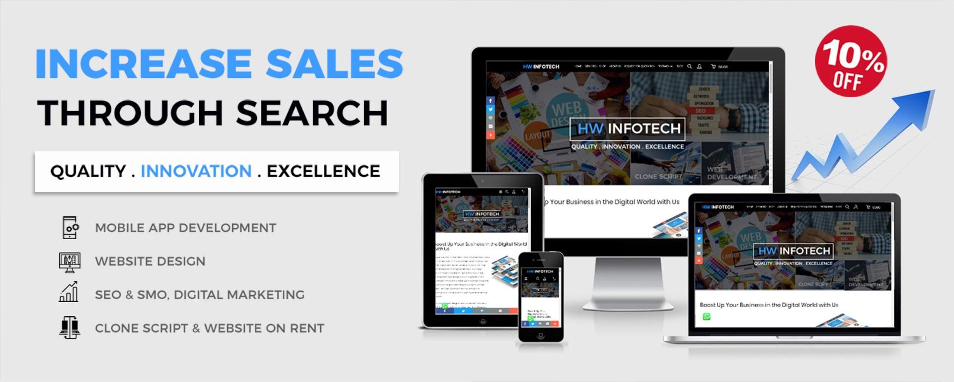Development and Digital Marketing for App, Web, Software Clone Scripts