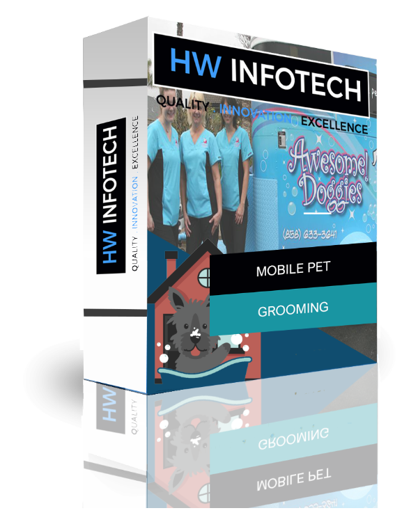 Mobile Pet Grooming website Clone | Mobile Pet Grooming website Script | Hw Infotech