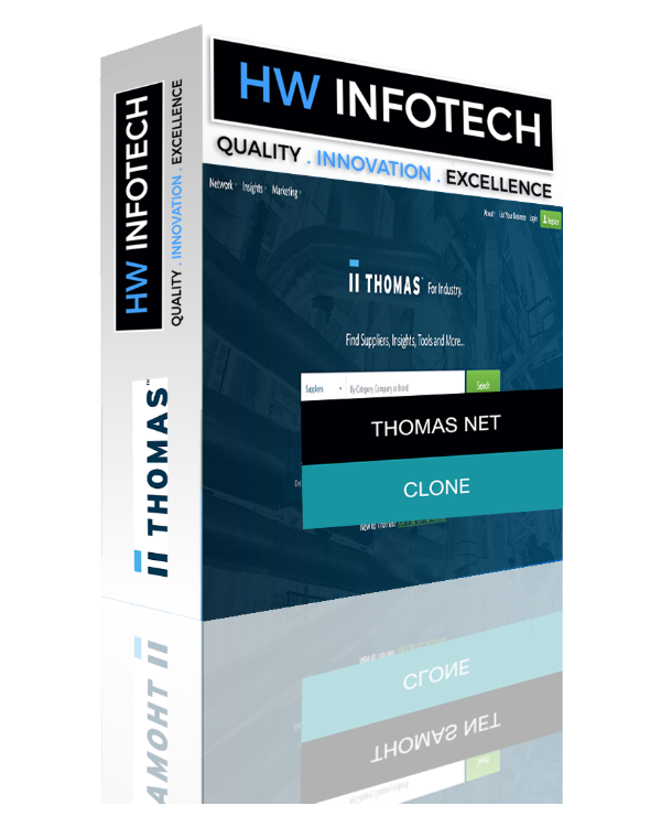 Thomas Net Clone Script | Thomas Net PHP script | App Like Thomas Net Website